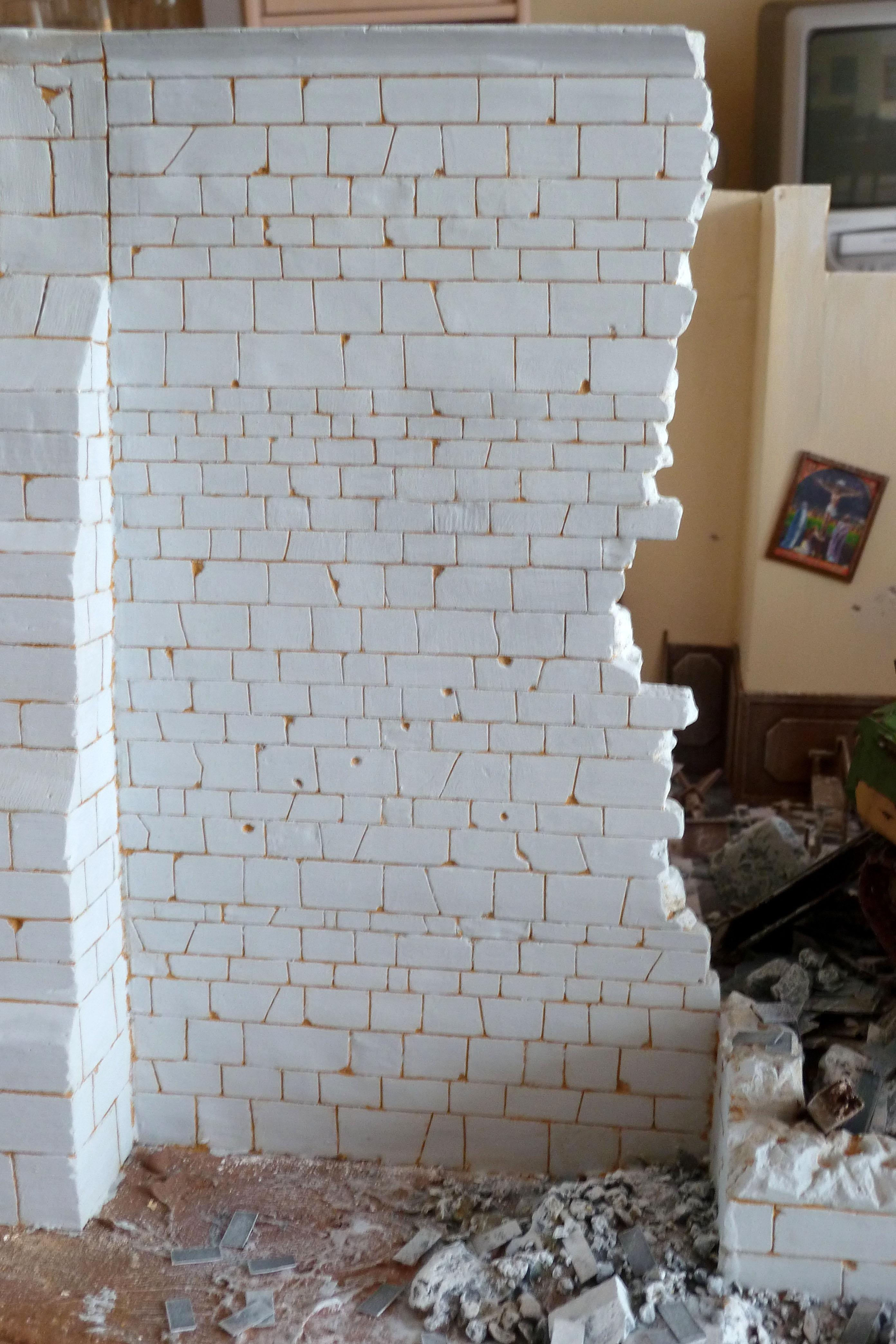L glise presque termin e dioramaquettes35 for Enlever la mousse sur les murs